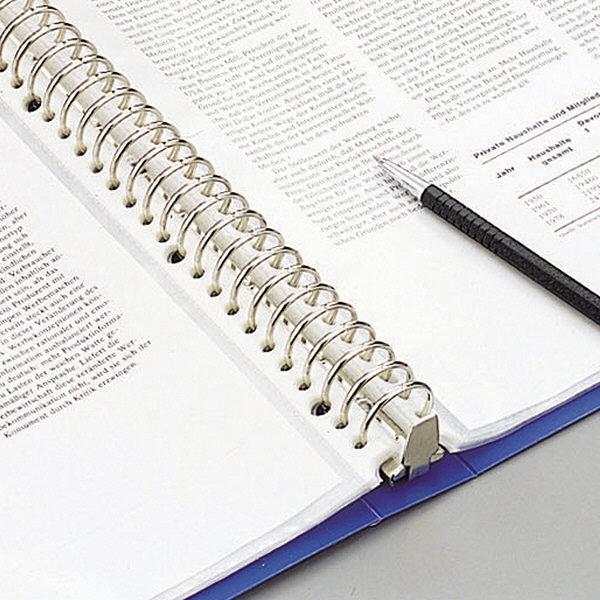 クリヤーブック 差し替え式 30穴 A4タテ 15ポケット 背幅2.5cm 3冊 青 G3801-8 リヒトラブ