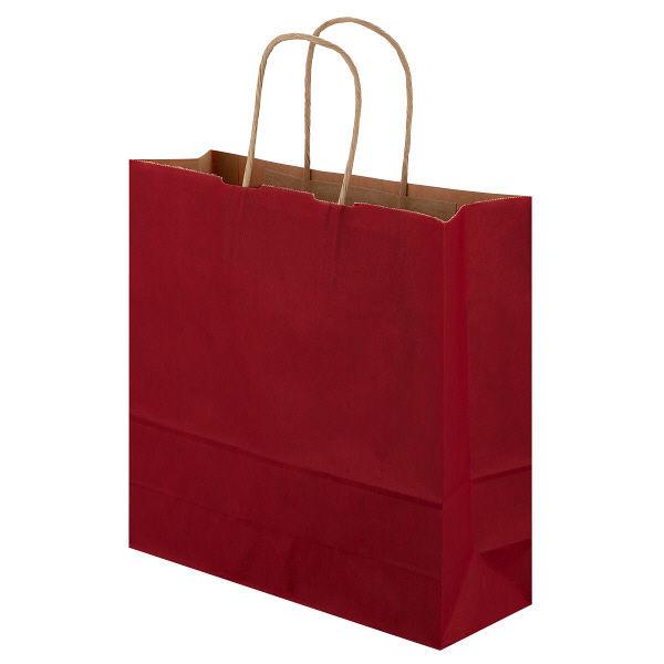 丸紐 手提げ紙袋 赤 M 300枚