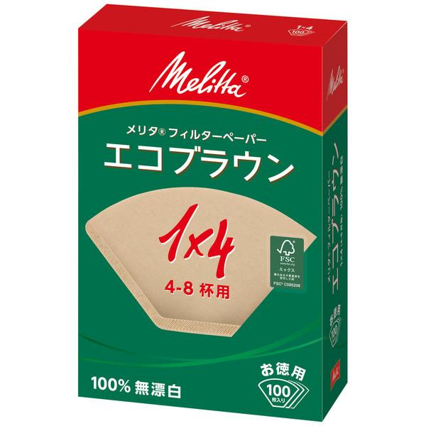 メリタジャパン エコフィルターペーパー 1×4サイズ 1セット(300枚:100枚入×3箱)