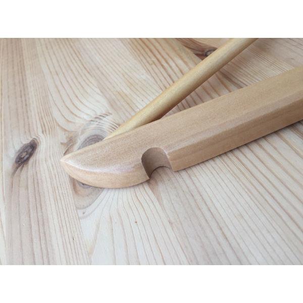 Woodドレスハンガー 業務用パック 1セット(50本:5本入×10)