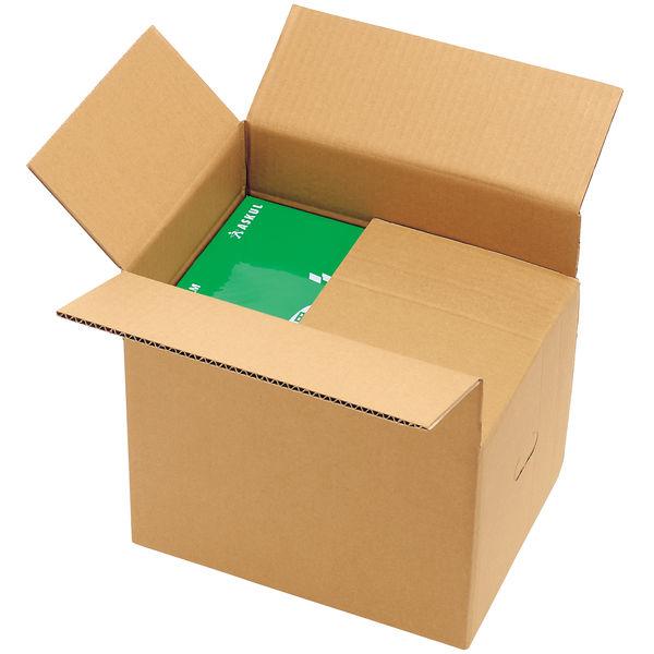アスクル 無地ダンボール箱 高さ調節タイプ A4×高さ55〜335mm 1セット(60枚:30枚×梱包)