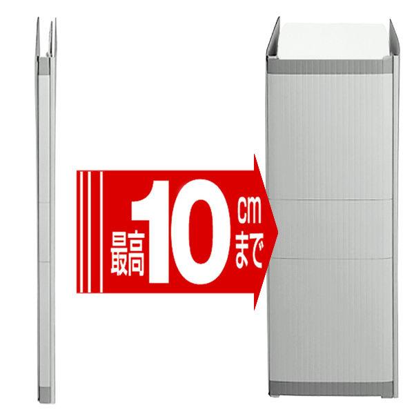 セキセイ のびーるファイル エスヤード A4タテ グレー 100冊 AE-50F-70