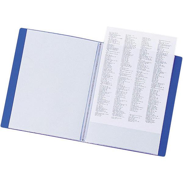 リヒトラブ リクエスト クリヤーブック A3タテ 20ポケット 青 1箱(24冊:6冊入×4箱)