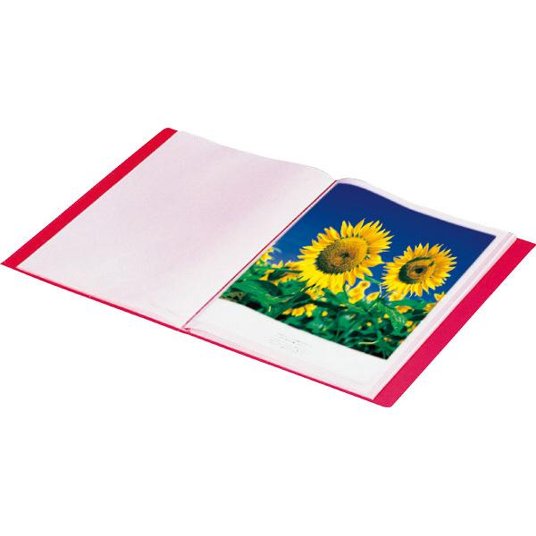 キングジム クリアーファイルカラーベース A3タテ20ポケット 432×329×16mm 青 スーパー業務用パック 1パック(30冊入)