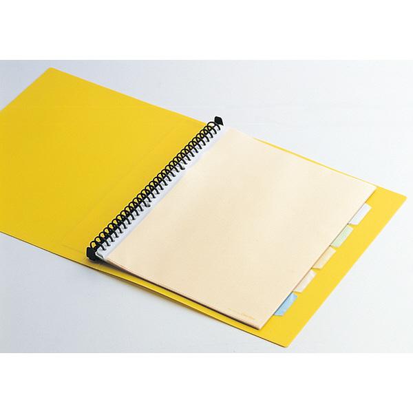 キングジム クリアファイル 差し替え式 5冊 A4タテ背幅40mm カラーベース 黄 139W