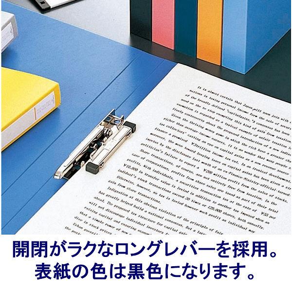 パンチレスファイル A4タテ 10冊 リヒトラブ HEAVY DUTY 黒 F367-11