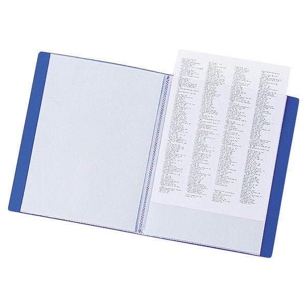 リヒトラブ リクエスト クリヤーブック A4タテ 20ポケット 青 G3201 スーパー業務用パック 1セット(30冊:10冊入×3箱)