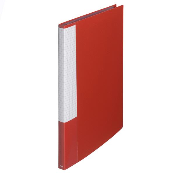 プラス スーパーエコノミークリアーファイル A4タテ 20ポケット レッド FC-122EL 88422 1セット(30冊入)