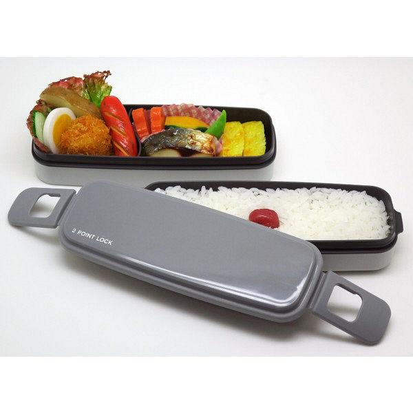 小食さんお弁当箱2段 650ml グレー