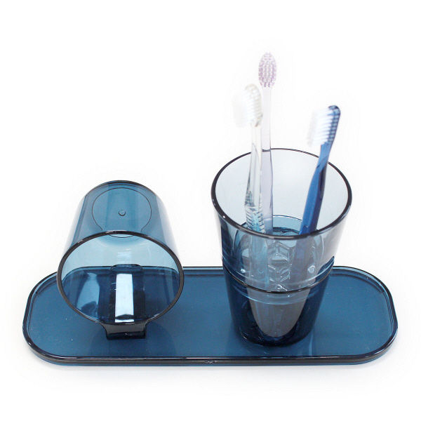 洗面トレー ブルー 1個
