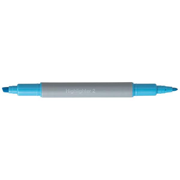 アスクル蛍光ペン ツイン ブルー 10本