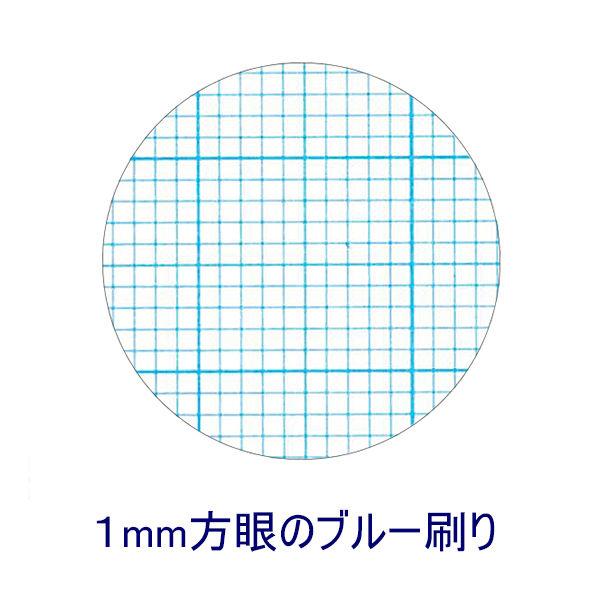 方眼用紙A4 ブルー刷1mm方眼 50枚