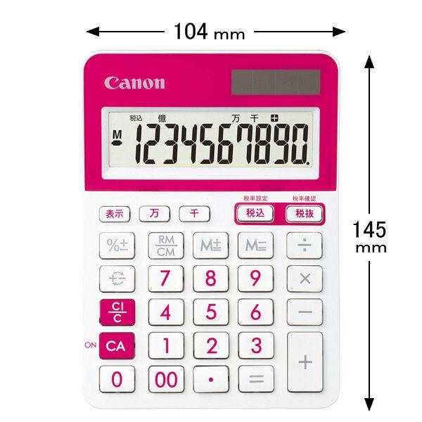 電卓 ピンク キャノン