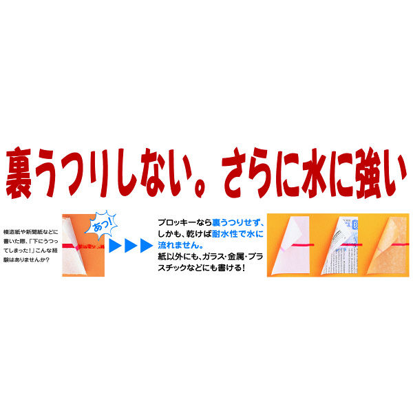 水性ペン プロッキー 細/極細ツイン 青