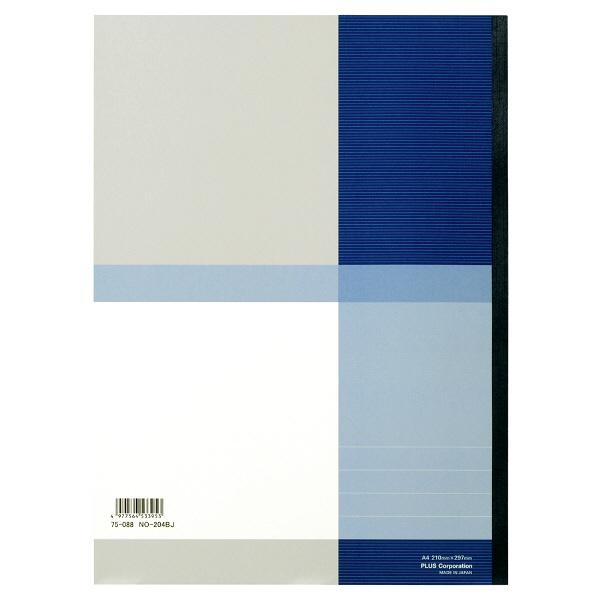 プラス 無線綴じノート ベーシック A4 40枚 B罫 青 75088 1パック(10冊入)