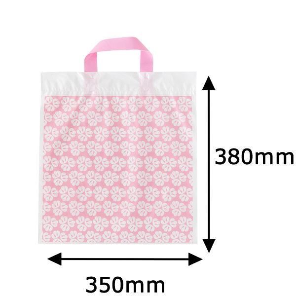 手提げポリ袋 ピンク M 50枚