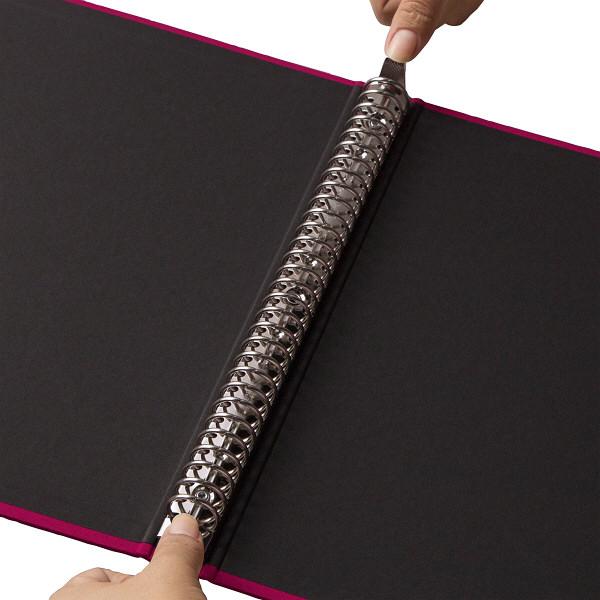 布貼りリングファイル 30穴 A4タテ 背幅34mm アスクル レッド