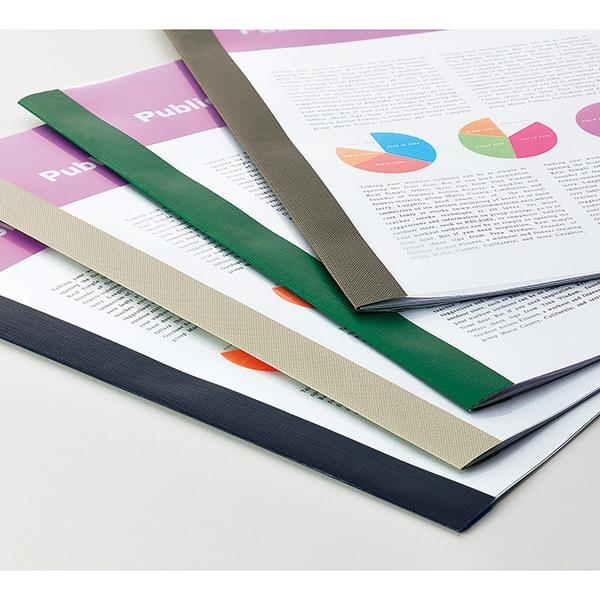 製本ファイル A4タテ 100冊 グリーン アスクル