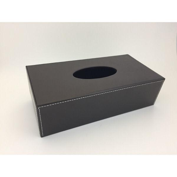 合皮ティッシュボックス ブラウン 1セット(3個:1個×3) I-Lex