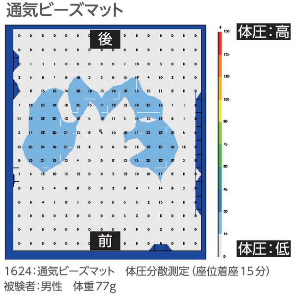 通気ビーズマット ブルー 1624 日本エンゼル (直送品)
