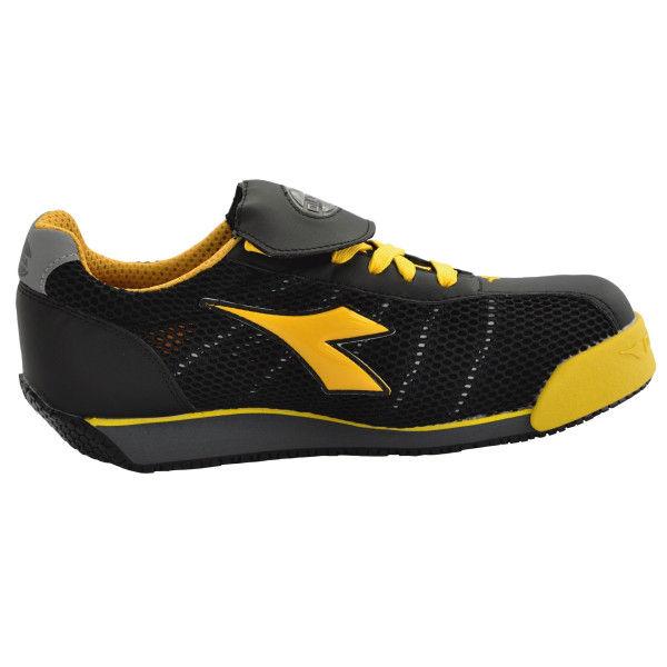 ドンケル R209004009 ディアドラ安全作業靴 キングフィッシャーKFー25 黒&イエロー 25.0cm 1足 (直送品)