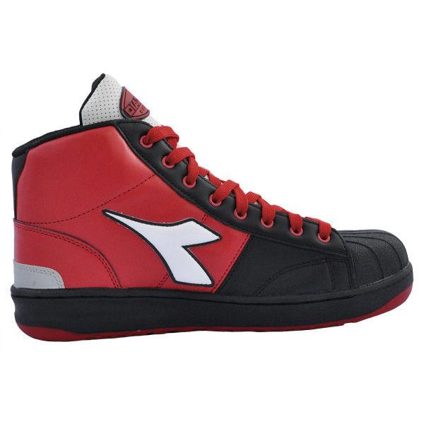 ドンケル R209014907 ディアドラ安全作業靴 エミュー EMー213黒&ホワイト&レッド 24.0cm 1足 (直送品)