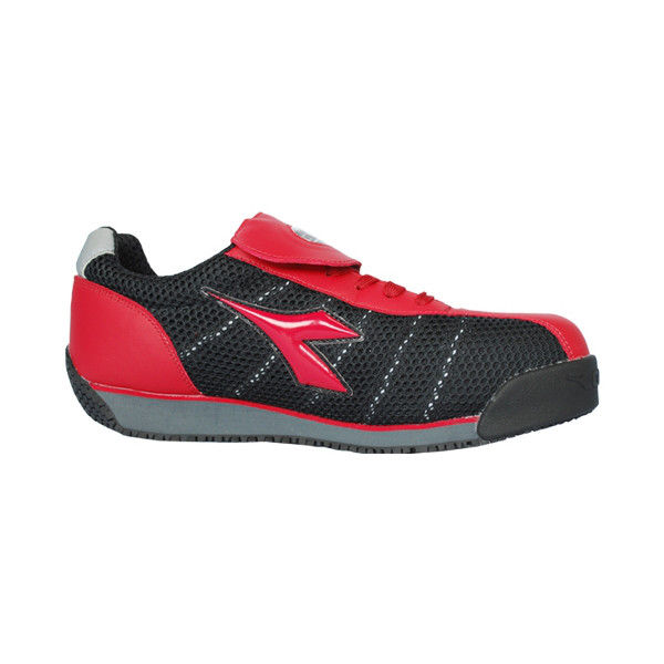 ドンケル R209012310 ディアドラ安全作業靴 キングフィッシャーKFー32 赤&ブラック 25.5cm 1足 (直送品)