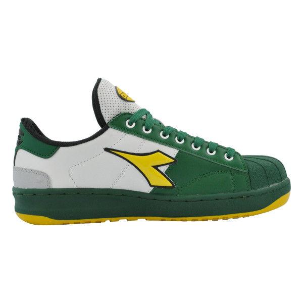 ドンケル R209014507 ディアドラ安全作業靴 キーウィ KWー651緑&イエロー&ホワイト 24.0cm 1足 (直送品)