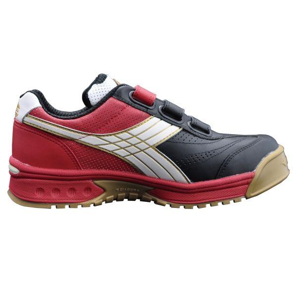 ドンケル R209016208 ディアドラ安全作業靴 ロビン RBー213黒&ホワイト&レッド 24.5cm 1足 (直送品)