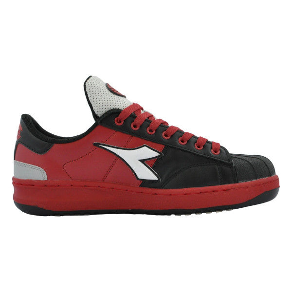 ドンケル R209014412 ディアドラ安全作業靴 キーウィ KWー213黒&ホワイト&レッド 26.5cm 1足 (直送品)