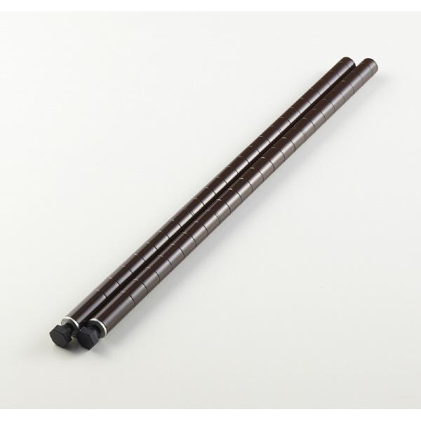 ホームエレクターブラウン柱 H12PDBR 1セット(2本入) (直送品)