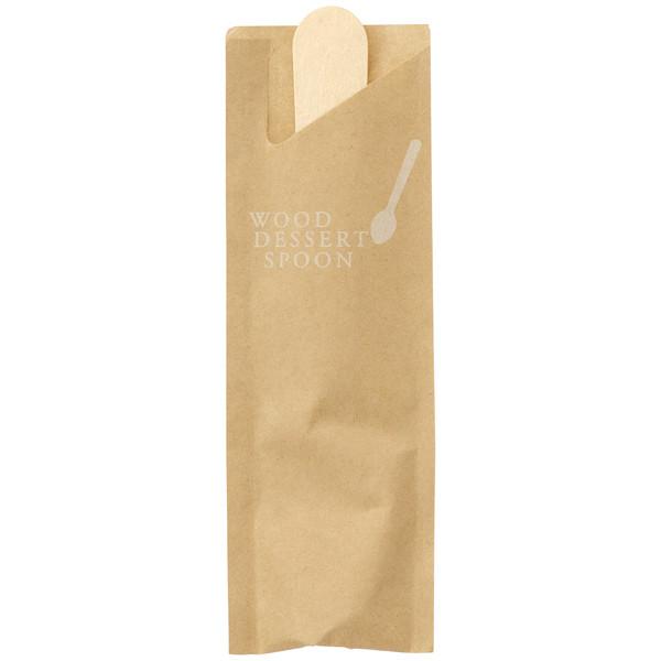 木製デザートスプーン 袋入り 80本入