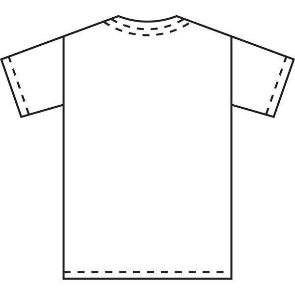 KAZEN カラースクラブ(男女兼用) 医療白衣 半袖 シルバーホワイト M 133-90 (直送品)