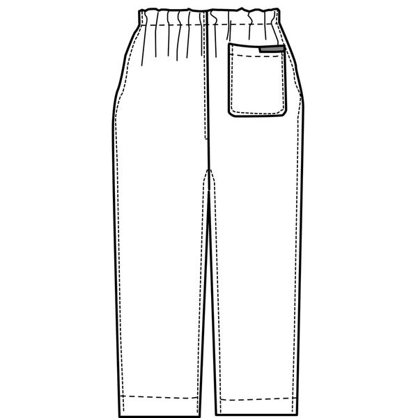 KAZEN カラーパンツ(男女兼用) スクラブパンツ 医療白衣 アクア(水色) M 155-81 (直送品)