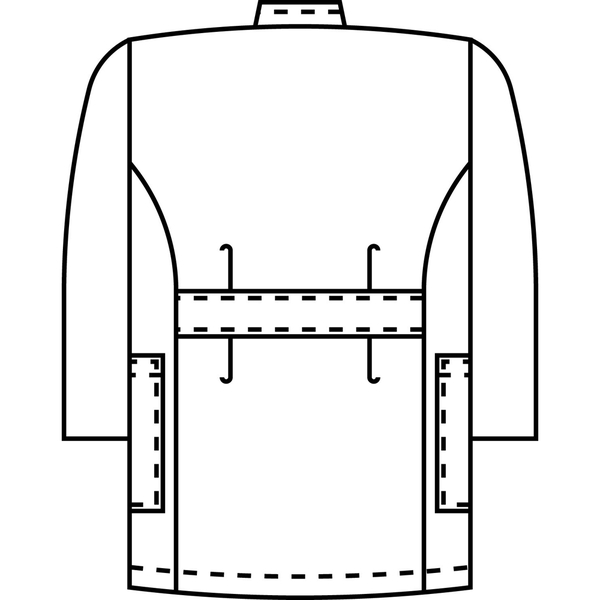 KAZEN メンズ医務衣(七分袖) サックス 3L 246-11 (直送品)