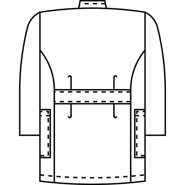 KAZEN メンズ医務衣(七分袖) サックス L 246-11 (直送品)