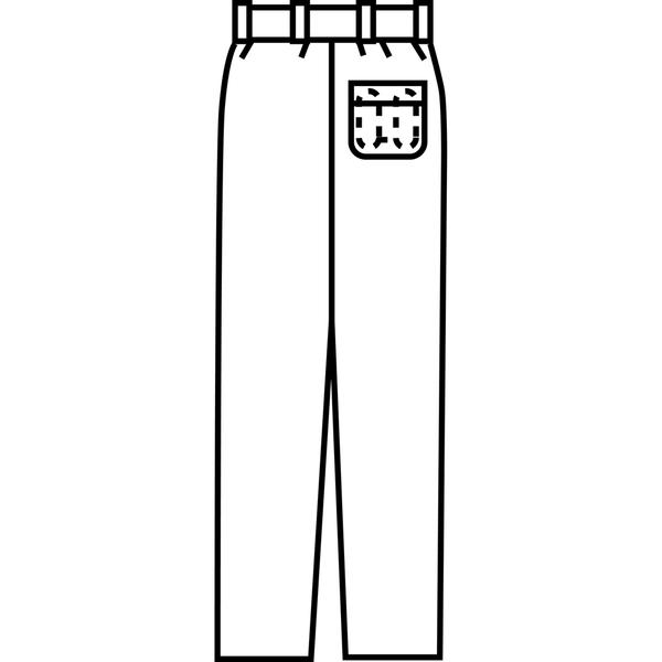 KAZEN メンズスラックス オフホワイト 120cm 259-10 (直送品)
