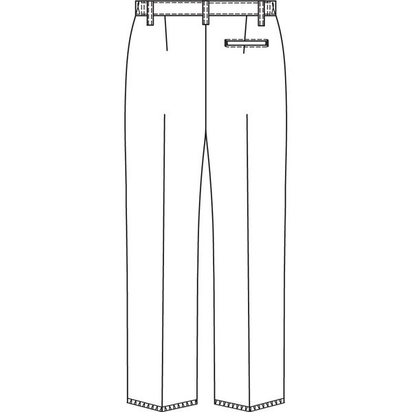 オンワード 白衣 PR-5001 メンズパンツホワイト L 1枚 (取寄品)