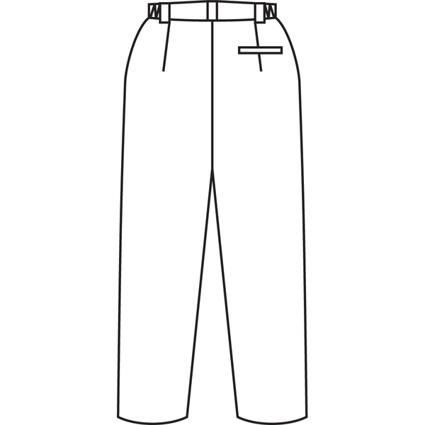 住商モンブラン メンズパンツ 医療白衣 ホワイト L 72-1141 (直送品)