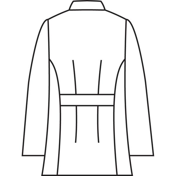 住商モンブラン ケーシー(レディス・8分袖) ナースジャケット 医務衣 医療白衣 白 LL 72-201 (直送品)