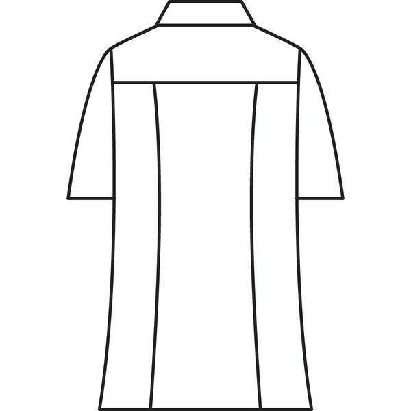 メンズジップアップジャケット(半袖 医務衣) 72-982 ホワイト L (直送品)