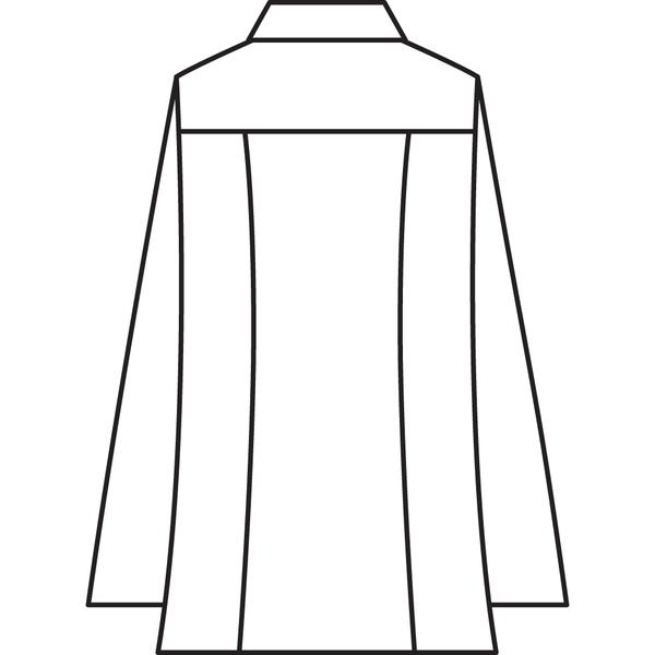 住商モンブラン メンズジップアップジャケット(長袖) 医務衣 サックス L 72-983 (直送品)
