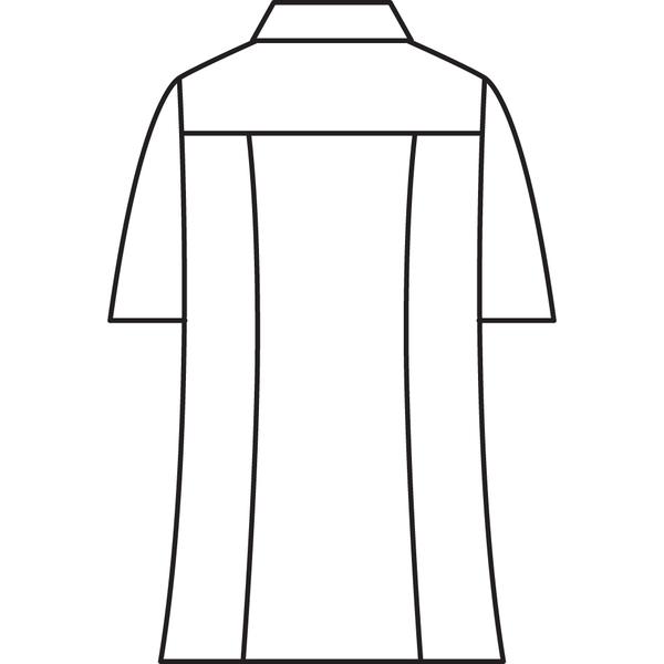 メンズジップアップジャケット(半袖 医務衣) 72-984 サックス LL (直送品)
