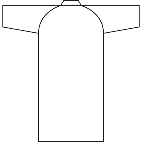 住商モンブラン ガウン (男女兼用 長袖) ダークグリーン L 79-453 (直送品)