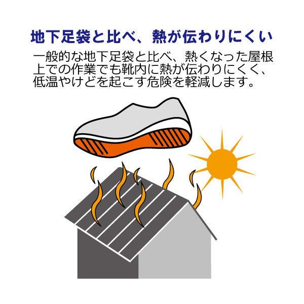 ミドリ安全 2125059206 先芯入り屋根上作業靴ヤネグリップ YGー15白/シルバー 23.5cm 1足 (直送品)
