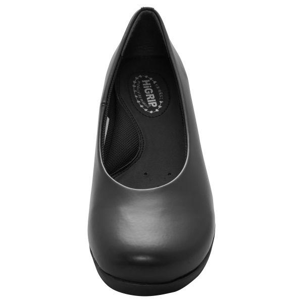 ミドリ安全 2125062309 女性用 パンプスデザイン超耐滑作業靴ハイグリップHー900 黒 25.0cm 1足 (直送品)