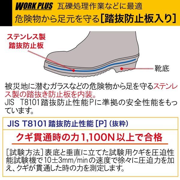 ミドリ安全 2146002015 先芯・踏抜防止板入り安全長靴 ワークプラスブーツ766NPー4 黒×オレンジ 28.0cm 1足 (直送品)
