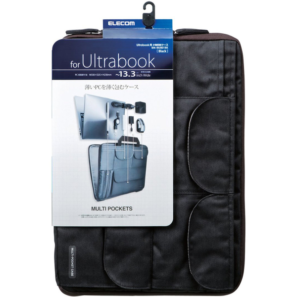 エレコム Ultrabook用小物収納ケース ブラック BM-IBUB01BK (取寄品)