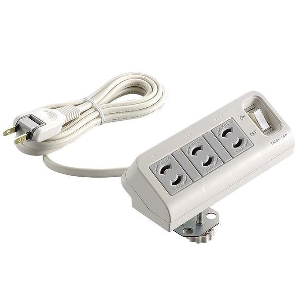 エレコム デスクタップ 2ピン 3口 2m 集中スイッチ付 T-DK2320CBS (取寄品)