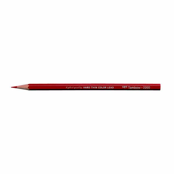 硬質色鉛筆(赤) 1ダース トンボ鉛筆